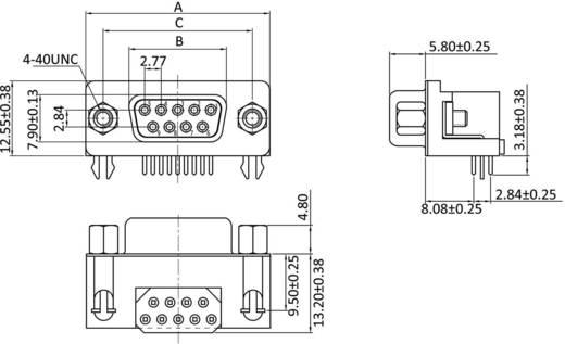 D-SUB hüvelyes kapocsléc, pólusszám: 9 forrcsúcs, econ connect BU7F9GA
