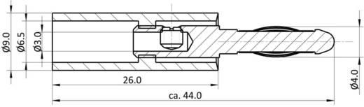 Banándugó, 4mm-es lamellás, fekete színű econ connect BS4SWE