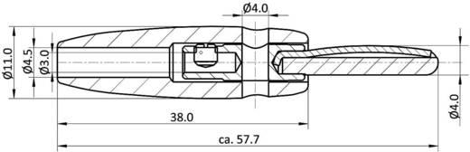 Banándugó, 4mm-es lamellás, fekete színű econ connect LAS4SWE