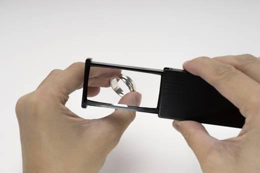 Hordozható zseb nagyító, hitelkártya méretű nagyító, 2x-es nagyítású Toolcraft
