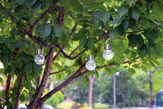 Napelemes kerti lámpa készlet, kültéri LED-es dekor lámpa, függeszthető, hidegfehér, átlátszó, 3 db, Esotec