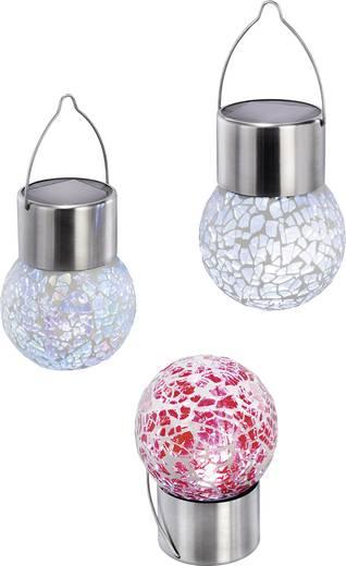 Napelemes kerti lámpa készlet, kültéri LED-es dekor lámpa, függeszthető, színes, 3 db, Esotec