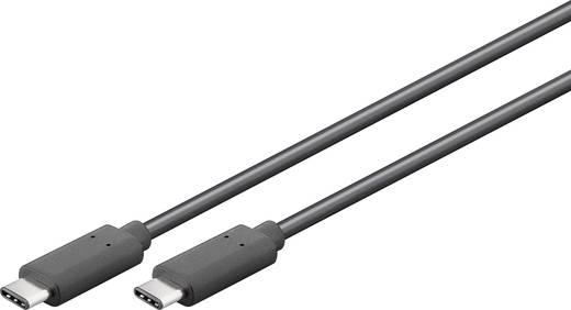 USB 3.1 Csatlakozókábel [1x USB dugó, C típus - 1x USB dugó, C típus] aranyozott 1 m Fekete Goobay 1314364