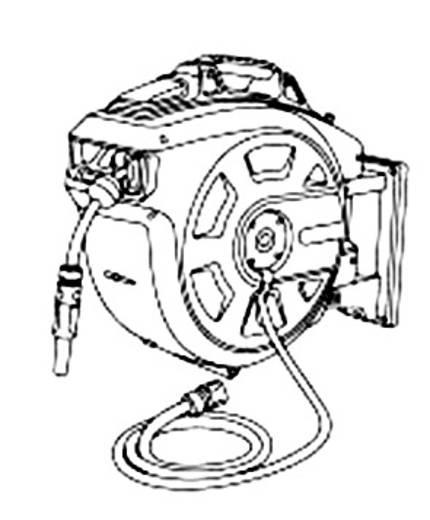 Gardena fali tömlőtartó dob, automatikus feltekercseléssel Gardena Comfort 35 roll-up (8024)