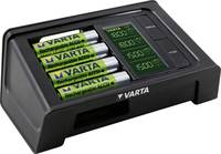 Ceruza AA, mikroceruza AAA automata akkumulátor töltő, LCD kijelző + USB töltő + 4 db 2100mAh akkuval, Varta LCD Smart (57674 101441) Varta
