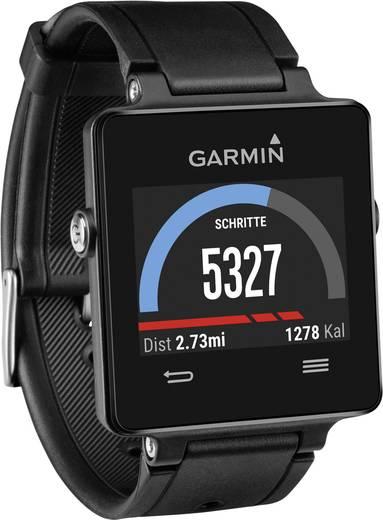 GPS-es pulzusmérő óra mellkasövvel Garmin vivoactive™ Bluetooth Fekete