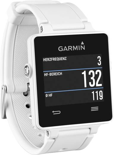 GPS-es pulzusmérő óra mellkasöv nélkül Garmin vivoactive™ GPS-Smartwatch Bluetooth Fehér