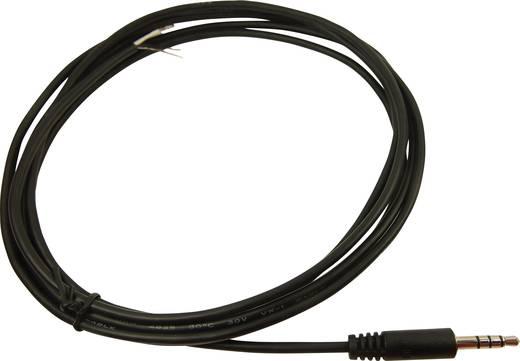 Jack csatlakozóvezeték, 3,5 mm jack dugó, sztereo, pólusszám: 4, Cliff FC68122C