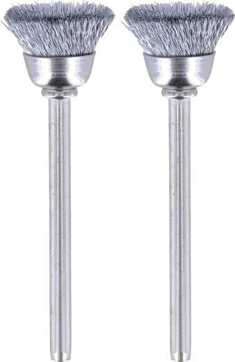 Drótkefe készlet, Dremel 26150442JA Szár átmérő 3.2 mm 2 db