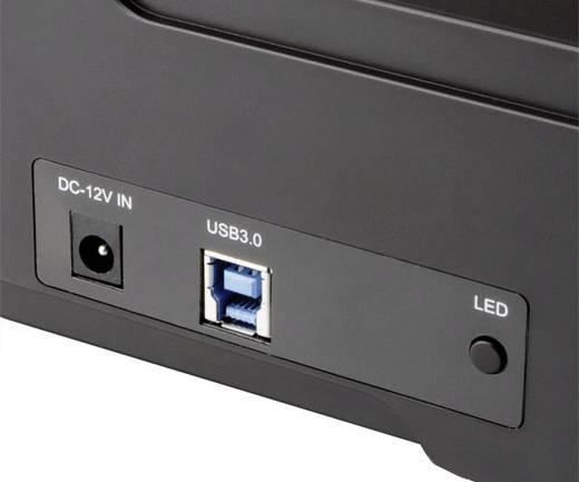 Merevlemez dokkoló állomás klónozó funkcióval, 2 portos, USB 3.0 SATA, Akasa DuoDock X