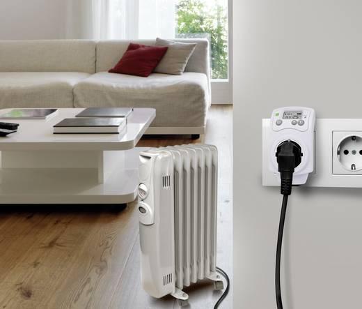 Konnektoros termosztát, köztes dugóval, 5...30 °C, Renkforce MH-850 T
