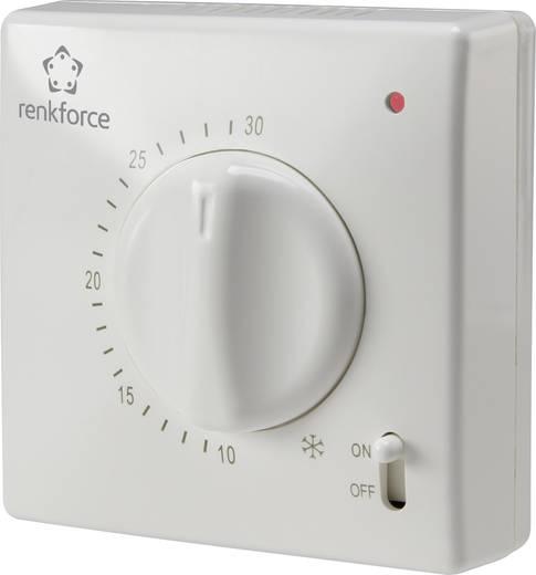Helyiség termosztát, falra szerelhető, napi programmal, 5...30 °C, Renkforce TR-93