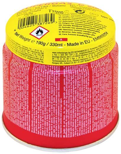 Gázkartus, Rothenberger C200 ILL 292 g