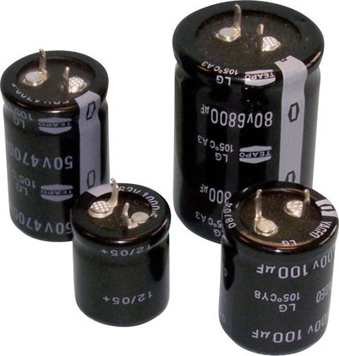 Elektrolit kondenzátor Snap-In 6800 µF 25 V 20 % (Ø x Ma) 25 mm x 25 mm SLG688M025S1A5R25K 1 db