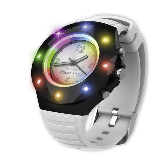 LED-es karóra Multi-color, Disco Watch