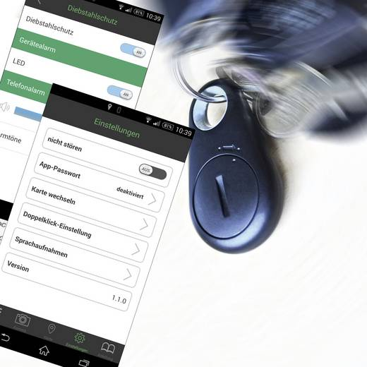 Okostelefon távkapcsoló, helymeghatározó, kulcskereső és lopás elleni védelem egy készülékben, Xmarty 701409