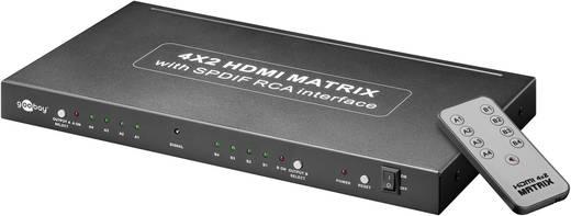 4 portos HDMI Matrix splitter Ultra HD képes 4 bemenet 2 kimenet Goobay AVS 45