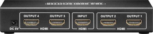 4 portos HDMI splitter, elosztó HD képes 1 bemenet 4 kimenet Goobay 44-4