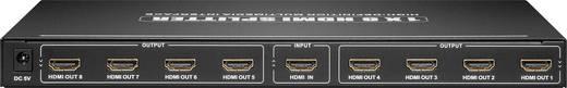 HDMI splitter, elosztó Ultra HD képes 1bemenet 8kimenet Goobay AVS 44-8