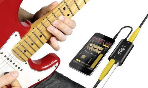 Gitár interface okostelefon csatlakoztatáshoz, Android és Apple iOS készülékekhez IK Multimedia iRig 2
