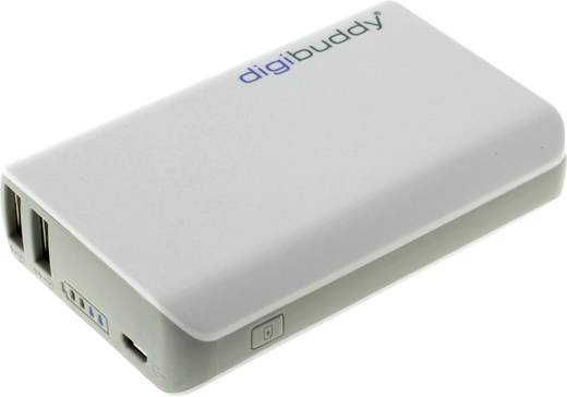 Powerbank, lítiumion 6600 mAh, DigiBuddy DB-6610