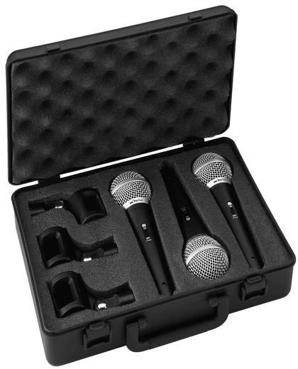 Stage Line 3db-os dinamikus mikrofon készlet Stage Line DM-3SET