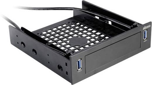 Merevlemez beépítőkeret, 2 USB csatlakoz˘val, AKASA 5.25Z USB3.0 HUB