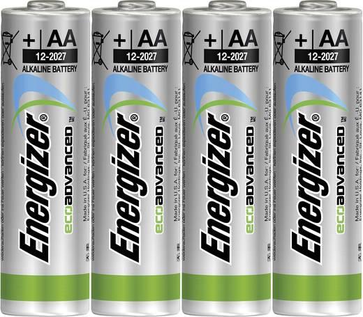 Ceruzaelem AA, alkáli mangán, 1,5V, 4 db, Energizer Eco Advanced LR06, AA, LR6, AAB4E, AM3, 815, E91, LR6N
