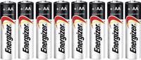 Ceruzaelem AA, alkáli mangán, 1,5V, 8 db, Energizer Max LR06, AA, LR6, AAB4E, AM3, 815, E91, LR6N (E301531300) Energizer