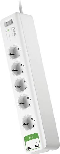 Túlfeszültségvédős hálózati elosztó 5 részes, fehér, APC by Schneider Electric PM5U-GR