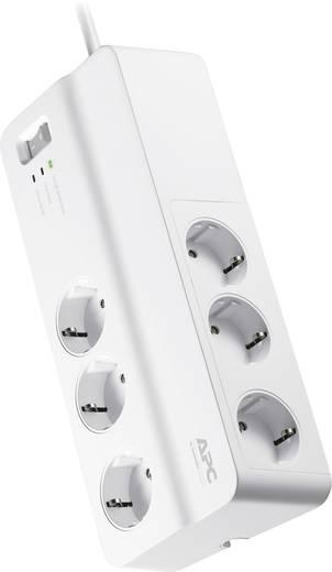 Túlfeszültségvédős hálózati elosztó 6 részes, fehér, APC by Schneider Electric PM6-GR