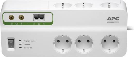 Túlfeszültségvédős hálózati elosztó 6 részes, fehér, APC by Schneider Electric PM63VT-GR