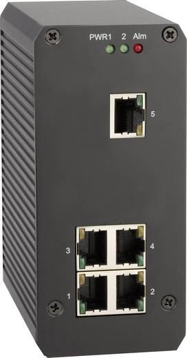 5 portos Gigabit switch kalapsínes szereléshez, Renkforce