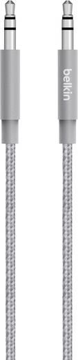 Jack audio kábel, 1x 3,5 mm jack dugó - 1x 3,5 mm jack dugó, 1,2 m, szürke, fonott, Belkin 1333653