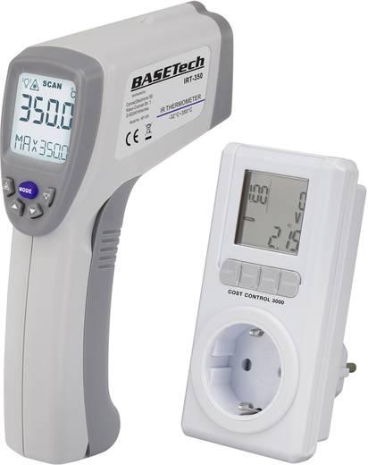 Infrahőmérő és fogyasztásmérő szettben Basetech IRT-350+Cost Control 3000