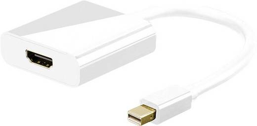 HDMI - DisplayPort adapter, Mini DisplayPort csatlakozó dugóról, HDMI aljzatra átalakító adapter Goobay 67880