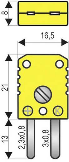 HŐELEM LAPOSDUGÓ 0.5 mm² THERMO-/FLACHSTECKER Sárga