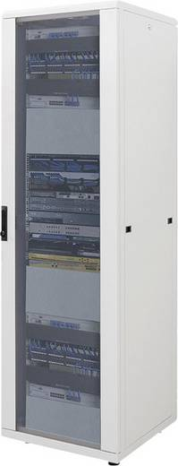 """19""""-os rackszekrény, hálózati szerverszekrény 600 x 1653 x 600 mm, szürke 32 HE Intellnet (RAL 7035) 713535"""