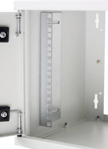 """19""""-os fali rackszekrény, hálózati szerverszekrény, zárható ajtóval 570 x 500 x 450 mm, szürke 9 HE Intellnet 71178"""