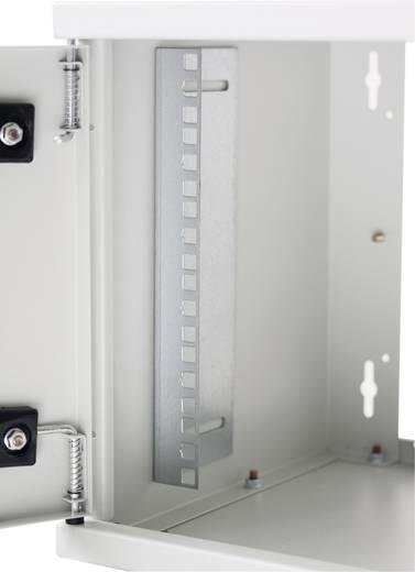"""19""""-os fali rackszekrény, hálózati szerverszekrény, zárható ajtóval 570 x 635 x 450 mm, szürke 12 HE Intellnet 711876"""
