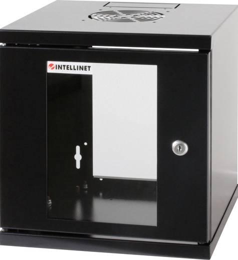 """10""""-os rack szekrény, hálózati szerverszekrény, zárható ajtóval, fekete, Intellinet 711692 6 HE (RAL 9005)"""