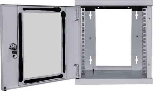 """10""""-os rack szekrény, hálózati szerverszekrény, zárható ajtóval, szürke, Intellinet 711708 6 HE (RAL 7035)"""
