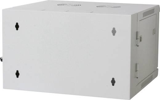 """19""""-os fali rackszekrény, hálózati szerverszekrény, zárható ajtóval 600 x 500 x 600 mm, szürke 9 HE Intellnet 711821"""