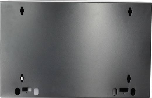"""19""""-os fali rackszekrény, hálózati szerverszekrény, zárható ajtóval 600 x 635 x 450 mm, fekete 12 HE Intellnet 7119"""