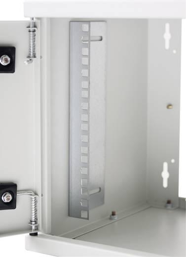 """19""""-os fali rackszekrény, hálózati szerverszekrény, zárható ajtóval 600 x 770 x 450 mm, szürke 15 HE Intellnet 7120"""