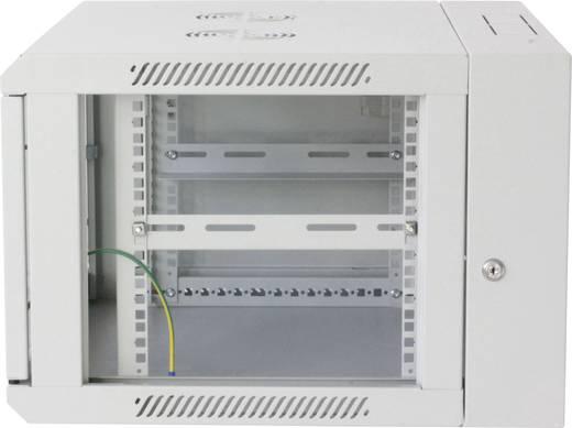 """19""""-os fali rackszekrény, hálózati szerverszekrény, zárható ajtóval 600 x 770 x 550 mm, szürke 15 HE Intellnet 7120"""