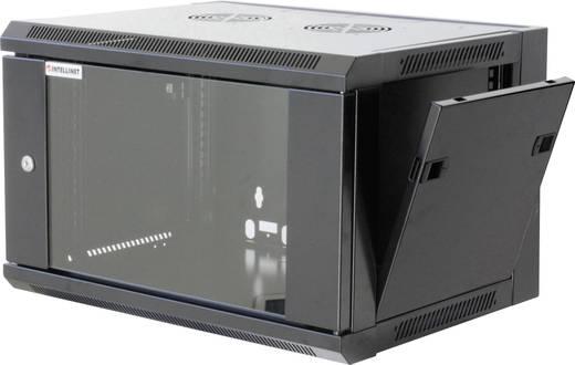 """19""""-os fali rackszekrény, hálózati szerverszekrény, zárható ajtóval 600 x 770 x 600 mm, szürke 15 HE Intellnet 7119"""