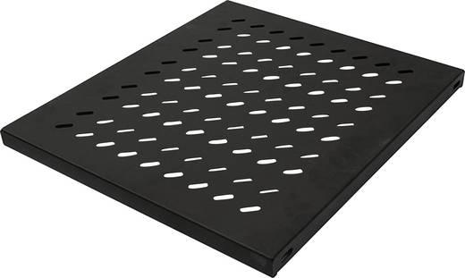 """19""""-os rackszekrénybe építhető polc, előlapi szereléshez, 345 mm mély, fekete, Intellinet 712521"""