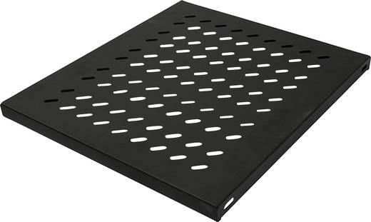 """19""""-os rackszekrénybe építhető polc, előlapi szereléshez, 600 mm mély, fekete, Intellinet 712576"""