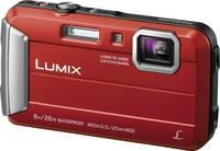 Panasonic DMC-FT30EG-R Digitális kamera 16.1 MPix Optikai zoom: 4 x Piros Víz alatti kamera, Fagyálló, Fröccsenő víz el Panasonic